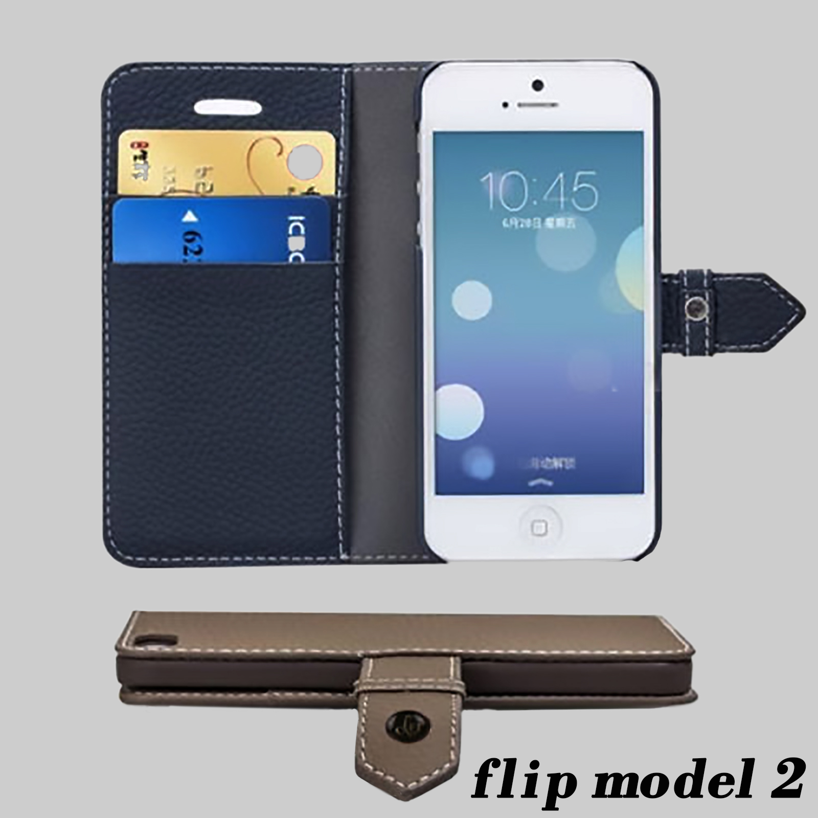 for iphone 8 7 plus flip thin wallet phone case cover for. Black Bedroom Furniture Sets. Home Design Ideas
